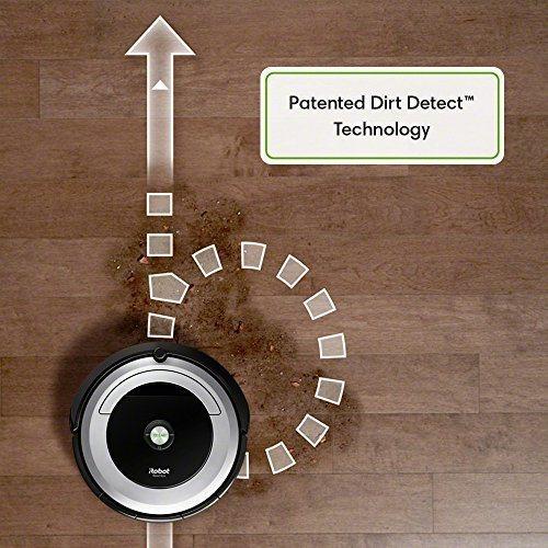 tecnología de detección de suciedad de irobot